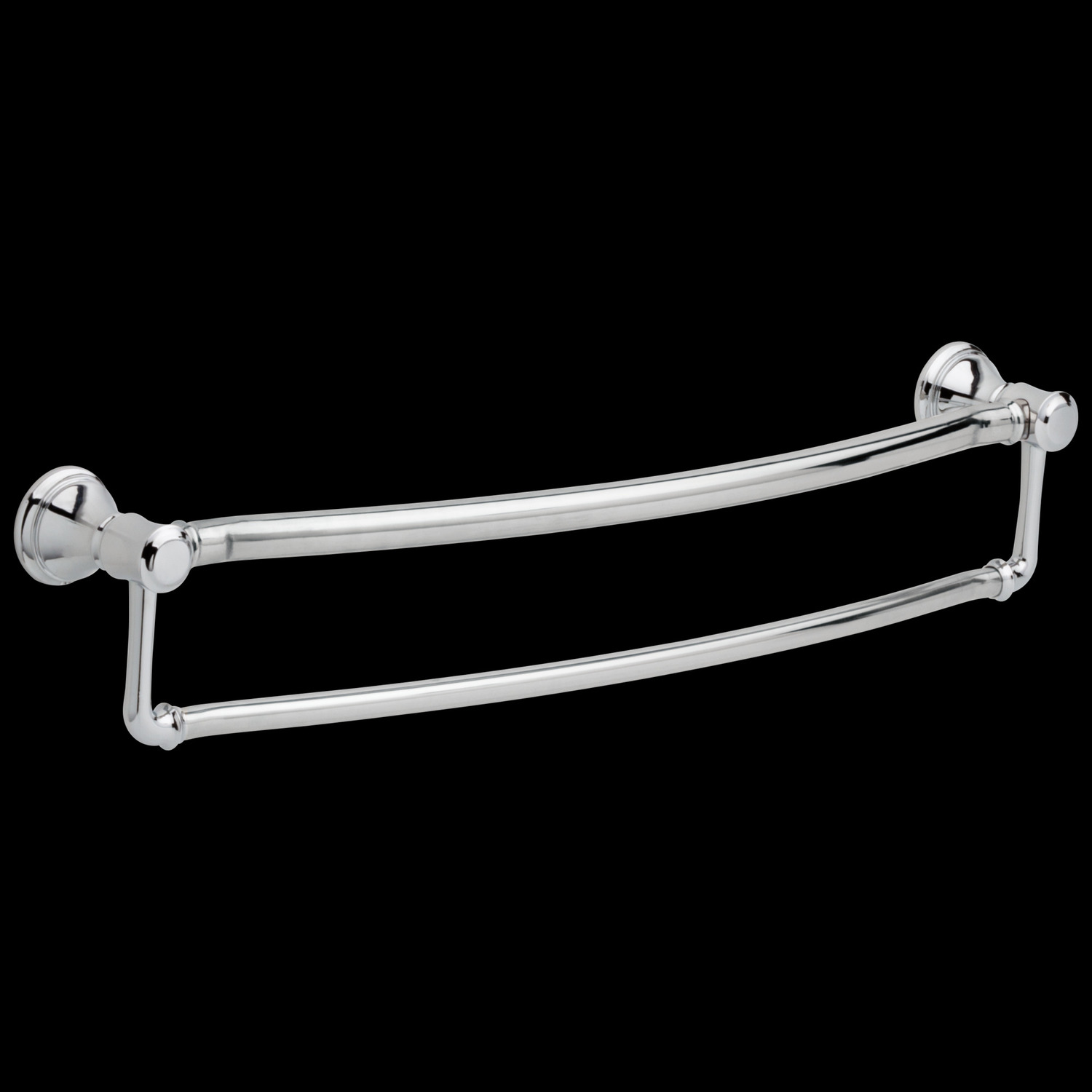 "Chrome 24"" Traditional Towel Bar with Assist Bar"