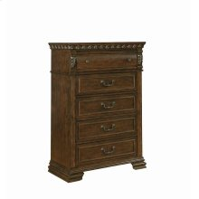Satterfield Traditional Warm Bourbon Five-drawer Chest