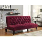 Burgundy Velvet Sofa Bed Product Image