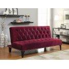Burgundy Velvet Sofa Bed Product Image