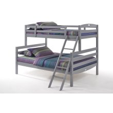 Sesame Twin Full Bunk in Gray Finish