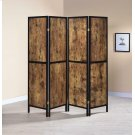 Industrial Antique Nutmeg Four-panel Screen Product Image