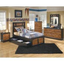 Aimwell - Dark Brown 3 Piece Bed Set (Twin)
