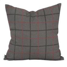 "20"" x 20"" Pillow Oxford Charcoal - Down Insert"