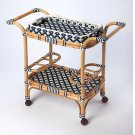 Function, form and fun all come together on this beautiful PU Rattan weave serving cart. The simplistic design of this servig cart is enhanced by a 'POP of contemporary design. The functional design with its intricate patterned weave and patterned remov Product Image