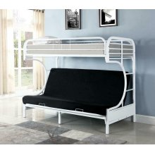 Atticus Contemporary White Bunk Bed