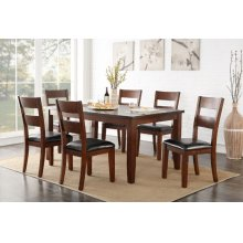 ZRPT8060 Rockport Casual Dining Set; Table & 4 Chairs