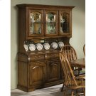 Classic Oak Burnished Large China Cabinet Product Image
