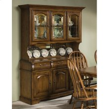 Classic Oak Burnished Large China Cabinet