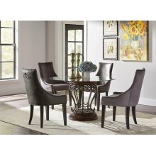 Phelps Traditional Grey Demi-wing Chair