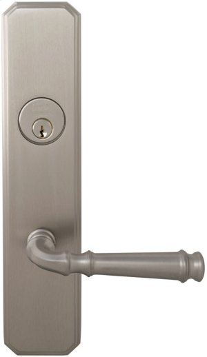 Exterior Traditional Mortise Entrance Lever Lockset with Plates in (US15 Satin Nickel Plated, Lacquered) Product Image
