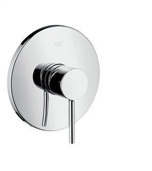 Chrome Single lever shower mixer for concealed installation with pin handle Product Image