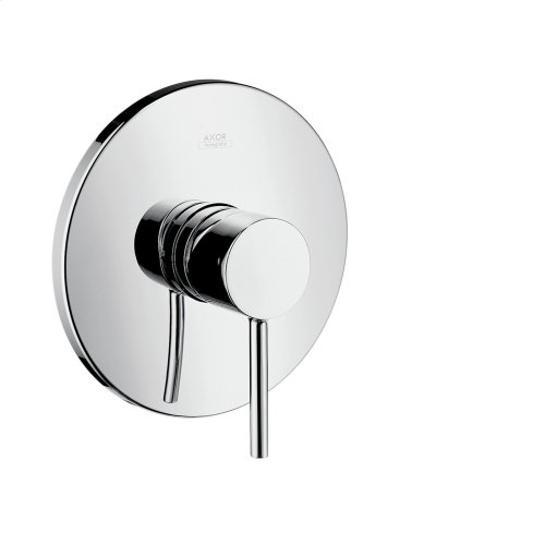 Chrome Single lever shower mixer for concealed installation with pin handle
