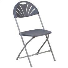 650 lb. Capacity Plastic Fan Back Folding Chair