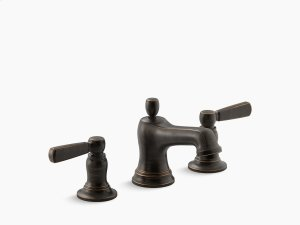Oil-rubbed Bronze Widespread Bathroom Sink Faucet With Metal Lever Handles Product Image