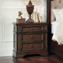 Ilana Antique Java Three-drawer Nightstand