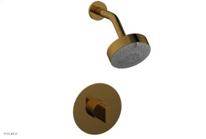 ROND Pressure Balance Shower Set - Blade Handle 183-21 - French Brass Product Image