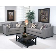 1225LS Loveseat Flyer metal and pillows in Roxanne Rio