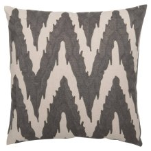 "Luxe Pillows Embroidered Flame Stitch (21.5"" x 21.5"")"