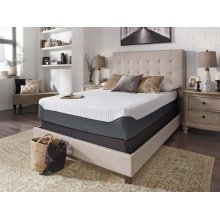 12 Inch Chime Elite - White/Blue 2 Piece Mattress Set