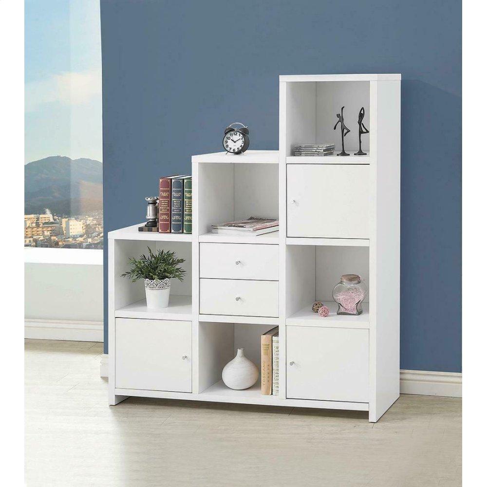 Contemporary White Bookcase