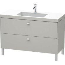 Furniture Washbasin C-bonded With Vanity Floorstanding, Concrete Gray Matte (decor)