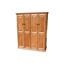 "Traditional Alder 48"" Full Door Bookcase"