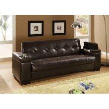 Transitional Dark Brown Sofa Bed
