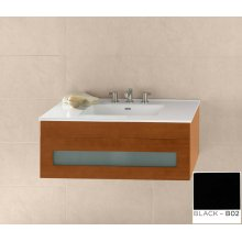 "Rebecca 36"" Wall Mount Bathroom Vanity Base Cabinet in Black"