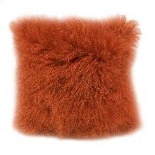 Lamb Fur Pillow Orange