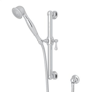 "Polished Chrome 24"" Palladian Decorative Grab Bar Set With Single-Function Handshower/Hose/Outlet Product Image"