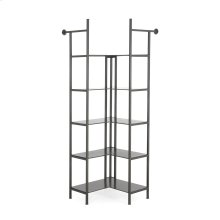 Corner Size Gunmetal Finish Enloe Modular Bookshelf System