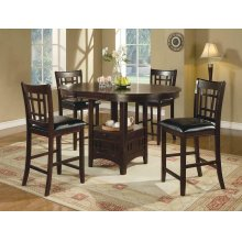 Lavon Transitional Espresso Counter-height Table