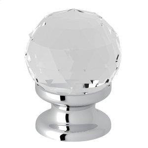 "Polished Chrome Italian Bath Crystal 1 3/16"" Pull Knob Product Image"