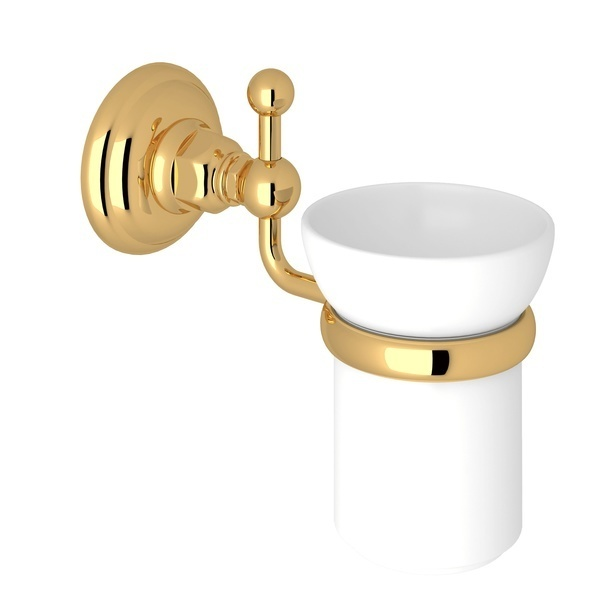 Italian Brass Italian Bath Wall Mount Tumbler Holder