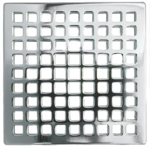 """Forever Brass - PVD 4"""" Square Shower Drain Product Image"""