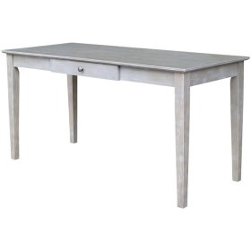 Writing Table w/ Drawer in Taupe Gray