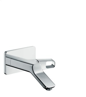 Chrome Single lever basin mixer for concealed installation wall-mounted with spout 200 mm Product Image