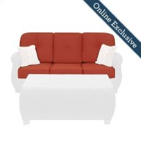 Breckenridge Outdoor Sofa Replacement Cushion Set, Brick Red Product Image