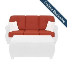 Breckenridge Outdoor Sofa Replacement Cushion Set, Brick Red