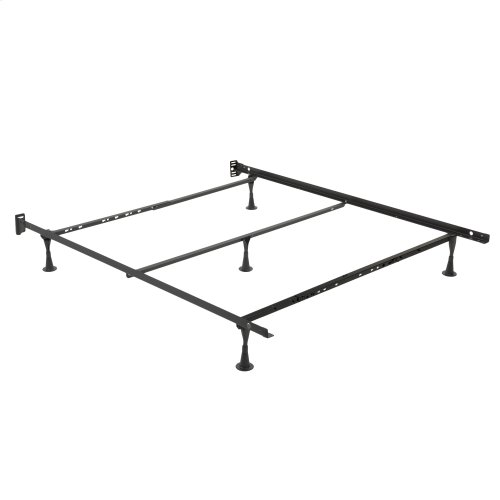 Sentry PL79/60-5G Adjustable Posi-Lock Single Angle Cross Support Bed Frame with Headboard Brackets and (5) 2.5-Inch Glide Legs, Full / Queen