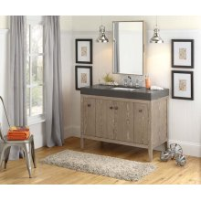 "Sophie 48"" Bathroom Vanity Cabinet Base in Aged Oak"