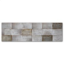 Neutral Shapes 22x72 Hand Painted