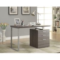 Contemporary Weathered Grey Writing Desk Product Image