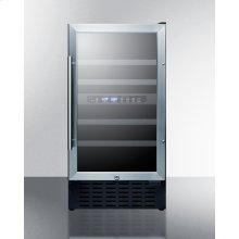 "18"" Wide Dual Zone Wine Cellar for Built-in or Freestanding Use, With Digital Controls, Lock, and LED Lighting"