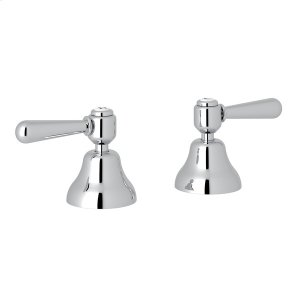 "Polished Chrome Verona Deck Mount Set of Hot & Cold 1/2"" Sidevalves with Metal Levers Product Image"