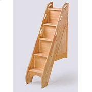 Bunk Bed Stairs in Natural Finish Product Image