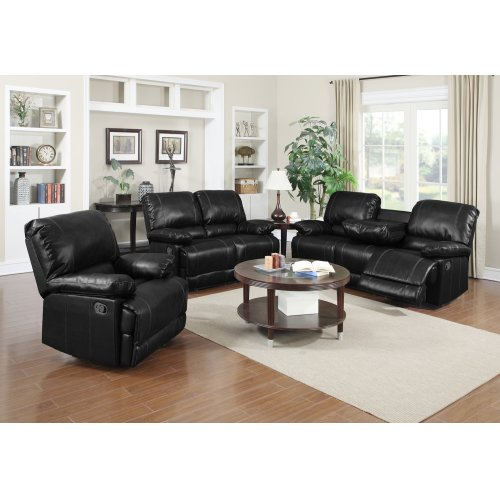 Dalton Black Reclining Sofa