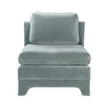 Slipper Chair In Seafoam Velvet