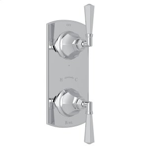 """Polished Chrome Palladian 1/2"""" Thermostatic/Diverter Control Trim with Metal Lever Product Image"""